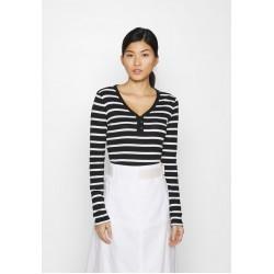 GAP FAV HENLEY - Langarmshirt - black/white/schwarz-93WGCFHP