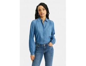 WE Fashion Hemdbluse - blue/blau