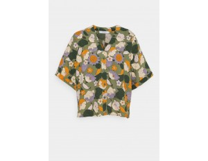 Dedicated ODENSE SEVENTIES FLORAL - Bluse - green/grün