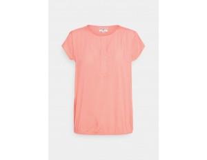 TOM TAILOR WITH FEMININE NECKLINE - Bluse - peach/white/koralle