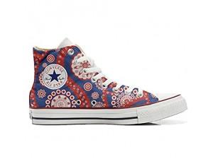 MYS Sneakers American USA - Base personalisierte Schuhe (Custom Produkt) Vintage Paysley Size 39 EU