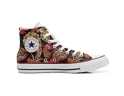 Unbekannt Sneakers American USA - Base personalisierte Schuhe (Custom Produkt) Vintage Paysley