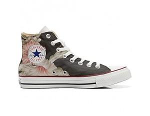 Unbekannt Sneakers Original USA personalisierte Schuhe (Custom Produkt) Blumen Rosa