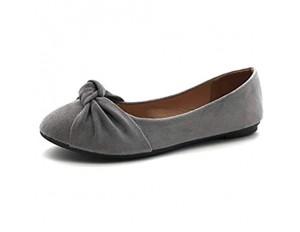 Angkorly - Damen Schuhe Ballerina - romantisch - nüchtern - Flache - Bogen - Basic Blockabsatz 1 cm