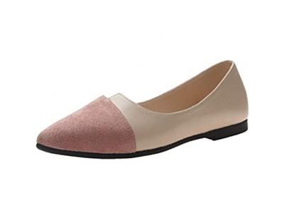 Eaylis Damen Splice Color Flats Schuhe Mode spitze Zehen Schuhe Ballerina Ballettschuhe Flat Slip On Schuhe