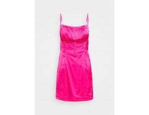 Missguided Petite PLEAT DETAIL STRAPPY BODYCON MINI DRESS - Cocktailkleid/festliches Kleid - pink