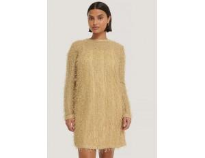 NA-KD Cocktailkleid/festliches Kleid - beige