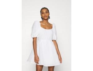 NA-KD DEEP BACK MINI DRESS - Cocktailkleid/festliches Kleid - white/weiß