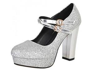 BeiaMina Damen Schuhe Mode Glitzer High Heel Party Schuhe Plateau