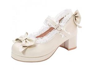 Lydee Damen Sweet Bogen Cosplay Schuhe