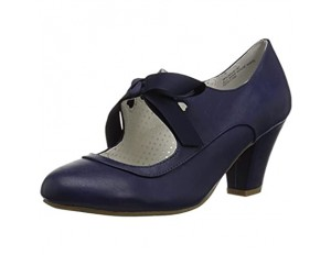 Pin up Couture WIGGLE-32 Navy Blue Faux Leather UK 3 (EU 36)