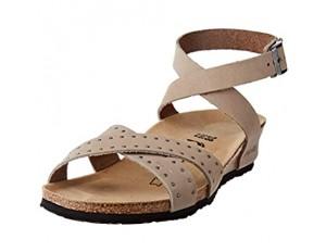 Papillio Damen Lola Cuir Nubuck Biscuit Rivets Sandale mit Absatz