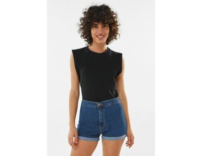 Bershka Jeans Shorts - blue/blau
