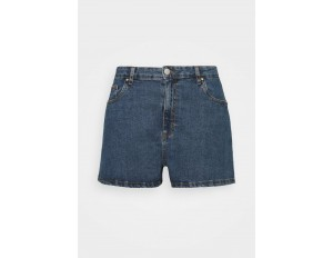 Cotton On Curve HIGH WAISTED - Jeans Shorts - coogee blue/blue denim
