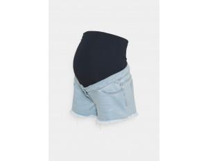 Missguided Maternity MATERNITY FRAYED HEM - Jeans Shorts - blue/blau