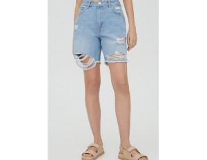 PULL&BEAR Jeans Shorts - blue/blau