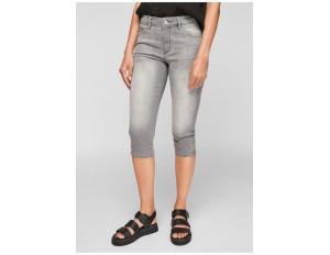 s.Oliver PANTALON - Jeans Shorts - light grey/bleached denim