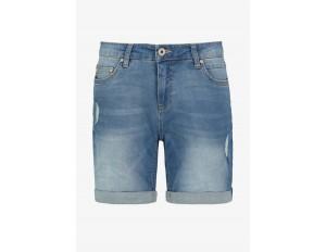 Sublevel Jeans Shorts - middle-blue/light-blue denim