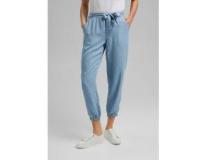 Esprit Stoffhose - blue bleached/bleached denim