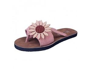 Ronony Damen Sandalen Casual Damen Sommer Peep Toe Plattform Pantoletten Flache Schuhe Sandalen Sandaletten Casual Slingback Slippers für Indoor Outdoor