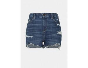 American Eagle CURVY SHORTIE - Jeans Shorts - medium tinted/destroyed denim