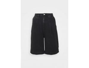 Monki NANETTE  - Jeans Shorts - black dark asia/schwarz