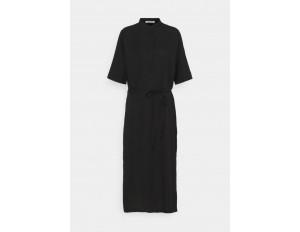 KnowledgeCotton Apparel ORCHID DRESS VEGAN - Blusenkleid - black jet/schwarz