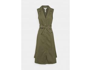 Object Petite OBJTENA DRESS - Blusenkleid - deep lichen green/khaki