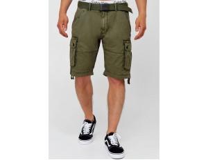 INDICODE JEANS CARGO ABNER - Shorts - army/khaki