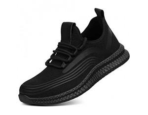 Teekit Strapazierfähige Sneaker Sicherheitsschuhe Arbeitsschuhe Atmungsaktiv Rutschfest Durchstoßsicher für Herren