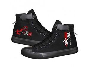 pZgfg Canvas Shoes Unisex Anime Cos The Seven Deadly Sins Lässige Leinenschuhe Segeltuchschuhe Seilsohlen Schuhe
