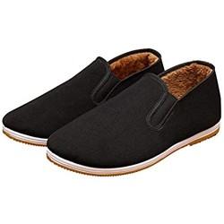 Xu-shoes Alte Peking-Tuch-Schuhe Kung Fu Schuhe - Komfortabler Herrenhausschuhe Kampfsport beiläufige chinesische Traditionen Tai Chi Schuhe (Color : Black Size : M EUR 44)