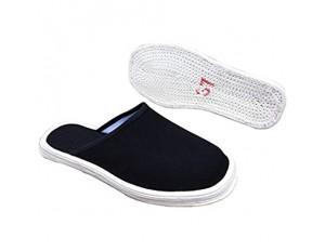 Xu-shoes Baumwollstoff Handarbeit Hausschuhe Atmungsaktive Deodorant Gesundheit Flache Schuhe Traditionelle Alte Peking Tai Chi Slipper Schwarze Wanderschuhe (Color : A Size : EUR 40)