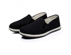 Xu-shoes Tai Chi Kung Fu Einfach Tuch-Schuhe alte Peking-Tuch Schuhe- bequemen Männer Hausschuhe Kampfsport beiläufige Chinese Traditions Schuhe (Color : Black Size : M EUR 39)