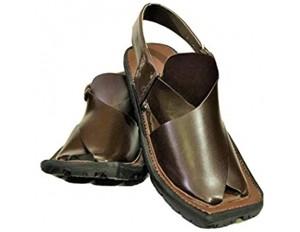 Herren Balochi Style Peshawari Leder Handgemachte Chapal Sandalen Flip Flops Chapal in Schwarz/Dunkelbraun/Braun