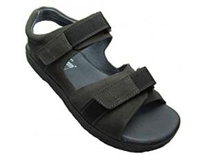 JACOFORM Modell 379 - Bequeme Sandale für Damen und Herren aus Veloursleder