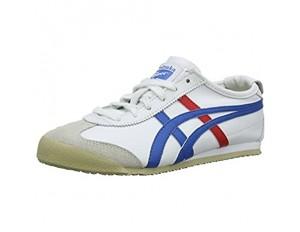 Onistuka Tiger Mexico 66 Unisex-Erwachsene Sneakers Weiß (WHITE/BLUE 0146) 43.5 EU