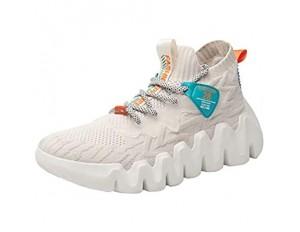 XIDISO Schuhe Herren Mode Leichtgewicht Turnschuhe Atmungsaktiver Slip on Sneakers Freizeitschuhe