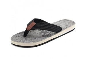 5ALL Herren Hausschuhe rutschfest Zehentrenner Bequem Flipflop Outdoor Slippers Verschleißfest Pantoffeln Strand Latschen Freizeit Sandale Schuhe für Sommer