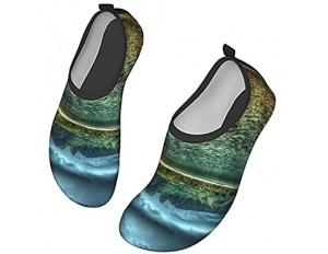 Unisex Outdoor Watschuhe Schnelltrocknend Schuhe Clear Ocean an der Küste Sehr geeignet für Outdoor Aktivitäten Kajak Surfen Yoga Strandschuhe