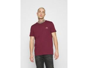 Alpha Industries BASIC SMALL LOGO FOIL PRINT - T-Shirt basic - burgundy/gold/bordeaux