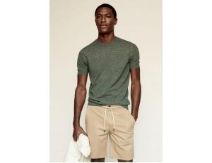 Mango T-Shirt basic - forest green/grün