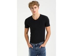 Only & Sons ONSBASIC SLIM V-NECK - T-Shirt basic - black/schwarz