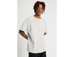 Urban Classics HERIRNGBONETERRY TEE - T-Shirt basic - light grey/hellgrau
