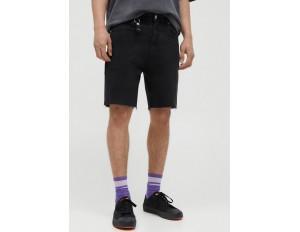PULL&BEAR Jeans Shorts - black/schwarz