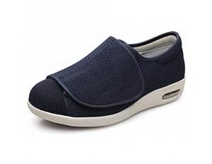 WSZMD Diabetes Ältere Schuhe Große Größe Plus Dünger Plus Breite Magma Schuhe Luftkissen Fußschuhe Einstellbar Fuß Geschwollen Schuhe rutschfest Blue-49