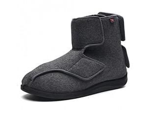WSZMD Diabetische Schuhe Angenehm Um Fersenschmerzen Ödemfuß Footprint-Entzündungen Thumbnitis Leichte Gasdurchlässigkeit Zu Lindern Gray-42