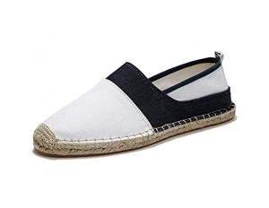 ZOSYNS Herren Segeltuchschuhe Slip-On Schuhe Flache Schuhe Outdoorschuhe für Männer Freizeitschuhe 39-44
