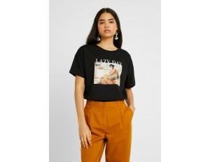 Even&Odd T-Shirt print - black/schwarz