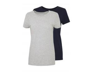 GAP CREW 2 PACK - T-Shirt basic - navy uniform/grey/dunkelblau